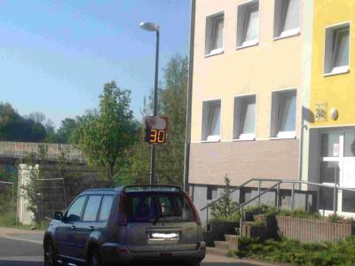 Digitale Geschwindigkeitsanzeige an der Talstraße